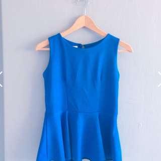 Blue Peplum Top