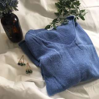 Summer blue knit