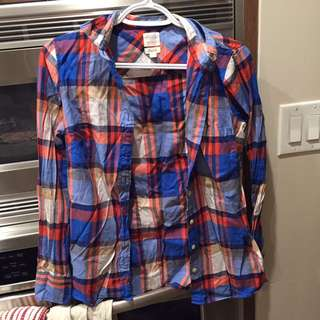 J CREW oilers colours flannel!