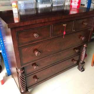 Ralph Lauren designer Mahogany chest of drawers