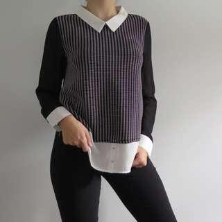 TEMPT faux shirt/sweater combo