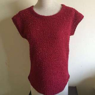Shimmery Red Top