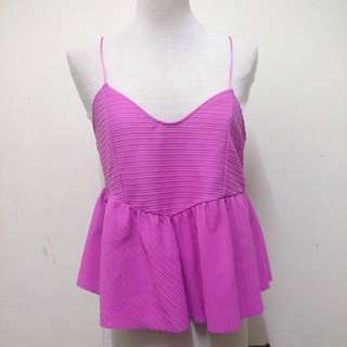 Zara Babydoll Vneck Top In Pink