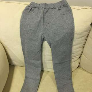 Muji cotton pants fitting girl age 8 to 9