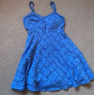 Lacey blue dress