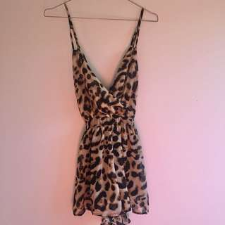 Animal Print Playsuit Size 8