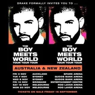 Drake Melbourne GOLD SEATED RESERVED x1 Sat 18th Nov