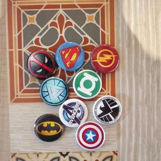 Avengers themed badges