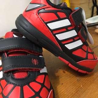 降 adidas愛迪達  黑紅蜘蛛人系列  男女童球鞋