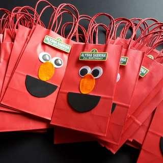 Elmo Theme Customised Party/Goodie Bag