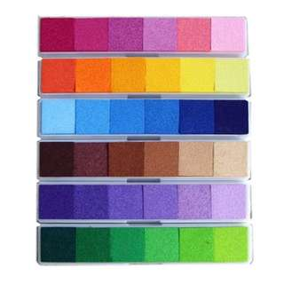 Ink Pad Gradient Free Postage Purple Yellow