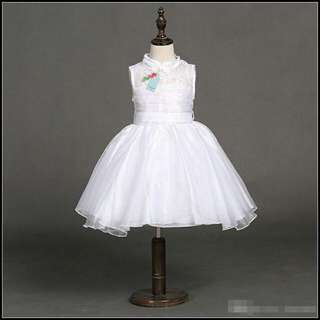 WHITE CHEONGSAM DRESS/GOWN (READY STOCK)