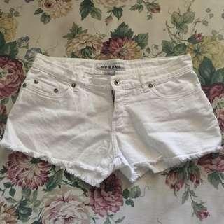 Next white shorts