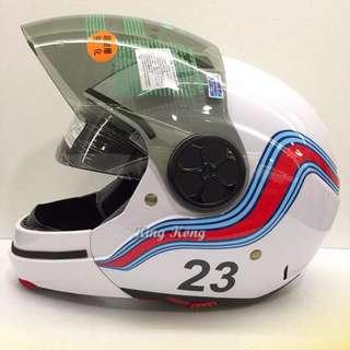 【金剛安全帽】JB-300 馬丁尼 超跑彩繪 全罩式安全帽 雙層鏡片 可拆式下巴 哈雷 重機 偉士牌