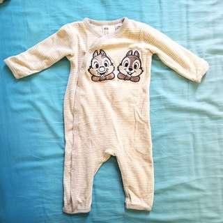 4-6個月 毛絨料連身衣