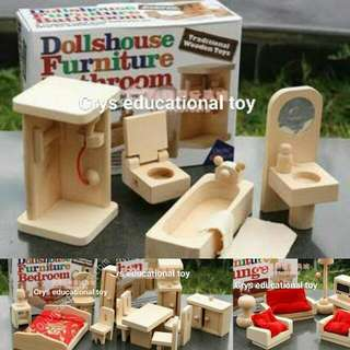 Wooden Dollhouse Furnitures
