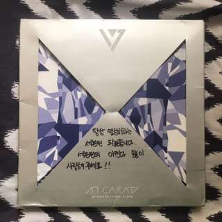 SEVENTEEN All Members Signed 17 CARAT Album