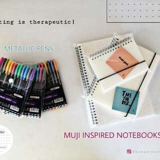 MUJI INSPRIED NOTEBOOKS