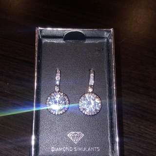 New Diamond Simulant Earrings