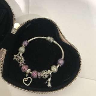 Auth Pandora Bracelet with 13 charms