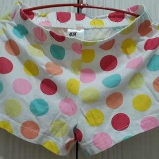 🚚 h&m  女童居家棉質小短褲 120cm二手衣