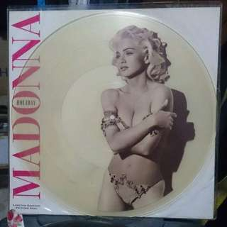 "Madonna Limited Edition Clear Holiday 12"" Picture Disc Vinyl"