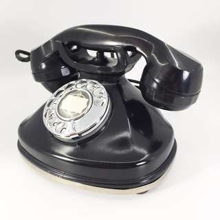 Mid 80s Black Rotary Phone with Working Condition (VRT_01-0817-94)