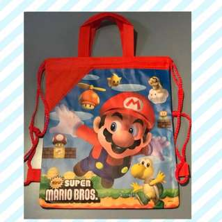 Mario Bros Drawstring Bag Backpack with Handle - Free Shipping