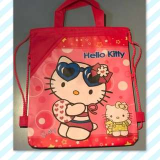 Hello Kitty Drawstring Bag Backpack with Handle - Free Shipping