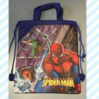 Spiderman Drawstring Backpack with Handle Bag - Free Shipping