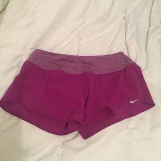Nike purple drifit shorts