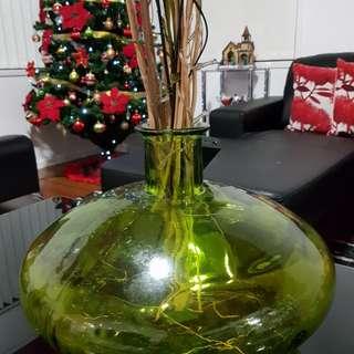 Green big bowl vase