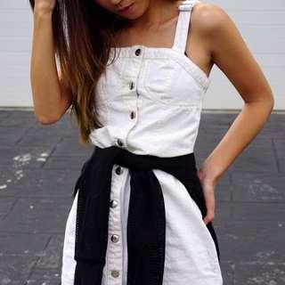 White Denim Overalls (Dress)