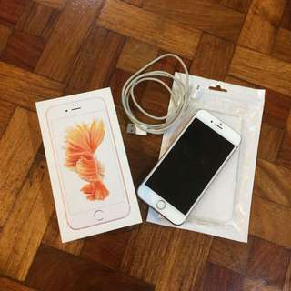 iPhone 6S 64GB Rose Gold Factory Unlocked with Accessories