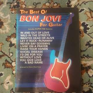 Best of Bon Jovi tab bookp