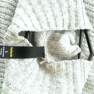 Grey shoulderless jumper, Factorie