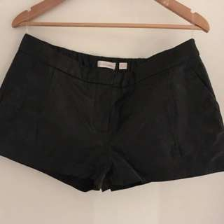 """Sass & Bide """"on and on"""" leather shorts size 12"""