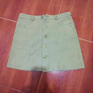 High waist brown skirt