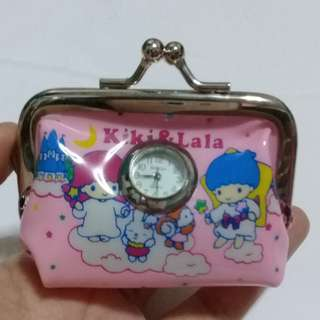 LITTLE TWIN STARS (SANRIO) 2-IN-1 COIN PURSE AND WATCH