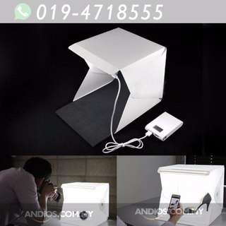 In-Stock✔Mini Studio Light Box Photography Backdrop LED Portable (Small)
