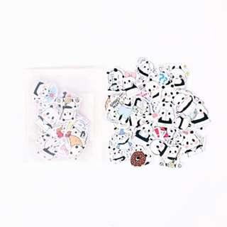 Animated panda sticker pack