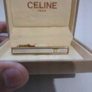 Celine tie pin gold tone tone with 925 silver