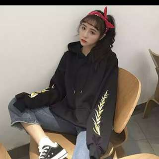 🖤ulzzang hoodie with embroidery 🖤