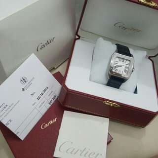Cartier santos100 medium size