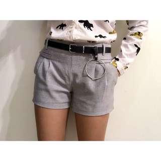 (實穿)灰色西裝短褲 鬆緊腰 不含皮帶