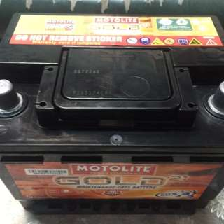DIN55 motolite car battery