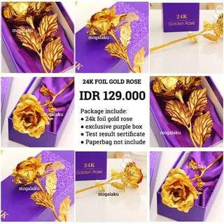 24k gold rose bunga mawar 24k golden rose