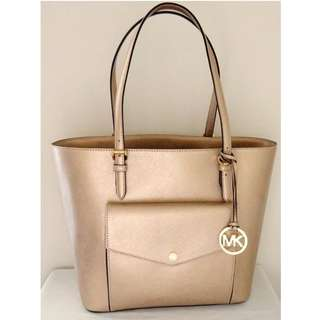 激減 正貨  Michael Kors Saffiano Leather Pocket Tote Bag MK 經典迷你斜揹袋 真皮 手袋 女 禮物 #SELLMY1111