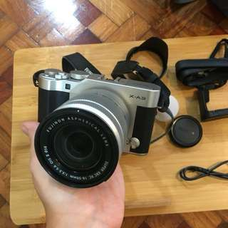 Fujifilm X-A3 + Warranty, SD Card, Charger, Leather Case, Heavy Duty Camera Bag, and Box (COMPLETE)