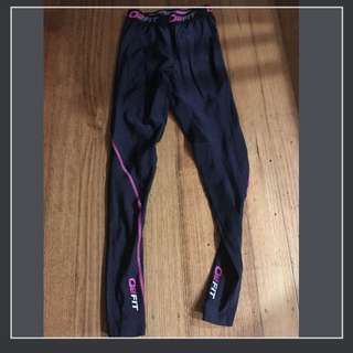 O2fit Compression Tights Size Small Excellent Condition